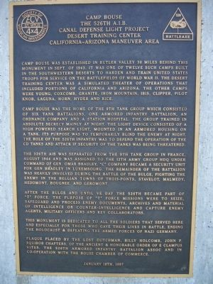 Camp Bouse Marker Photo, Click for full size