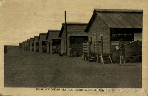 Row of Mess Halls Camp Wheeler Macon Georgia Military