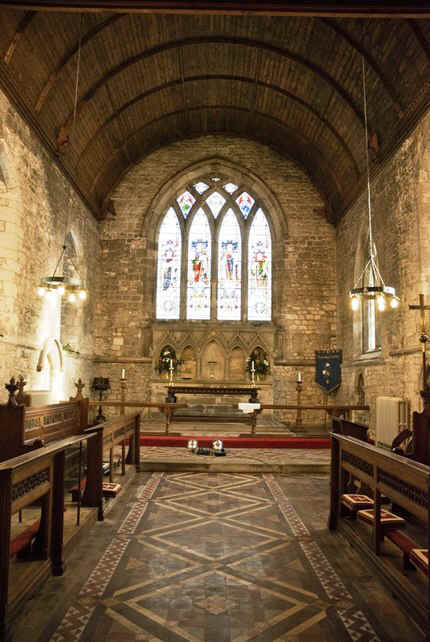 interior of st. lawrence's church, thornton curtis